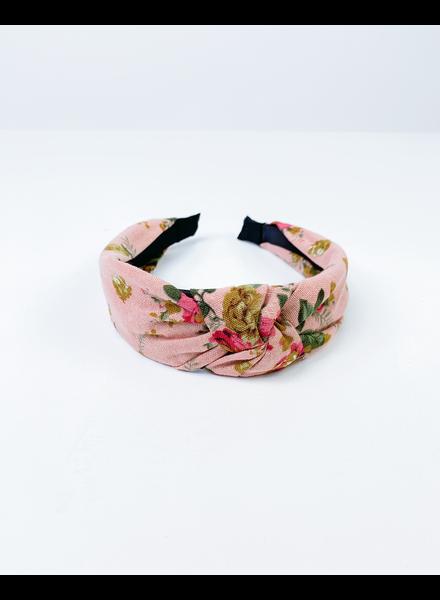 Headband Dusty Rose Vintage Floral Headband