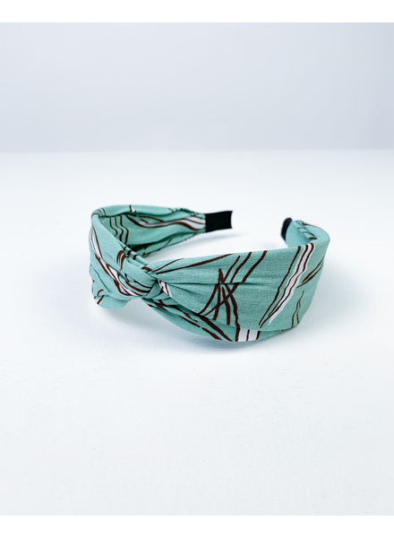 Headband Mint Print Headband