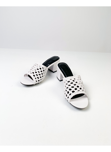 Sandal White Basket Slide