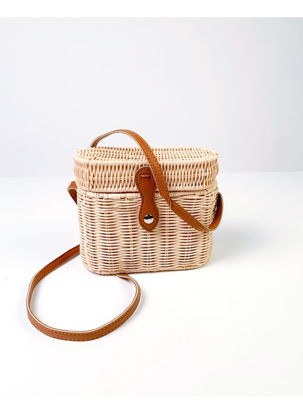 Cross-body Natural Picnic Purse
