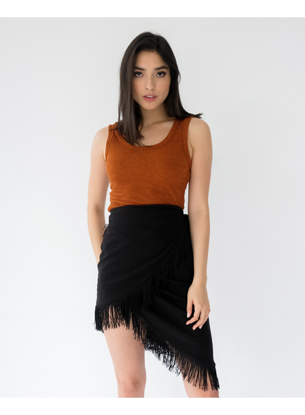 Skirt In A Fringe Skirt