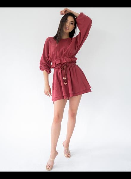 Skirt Mauve Gauze Mini