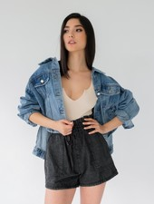 Lightweight Hi-Low Denim Jacket