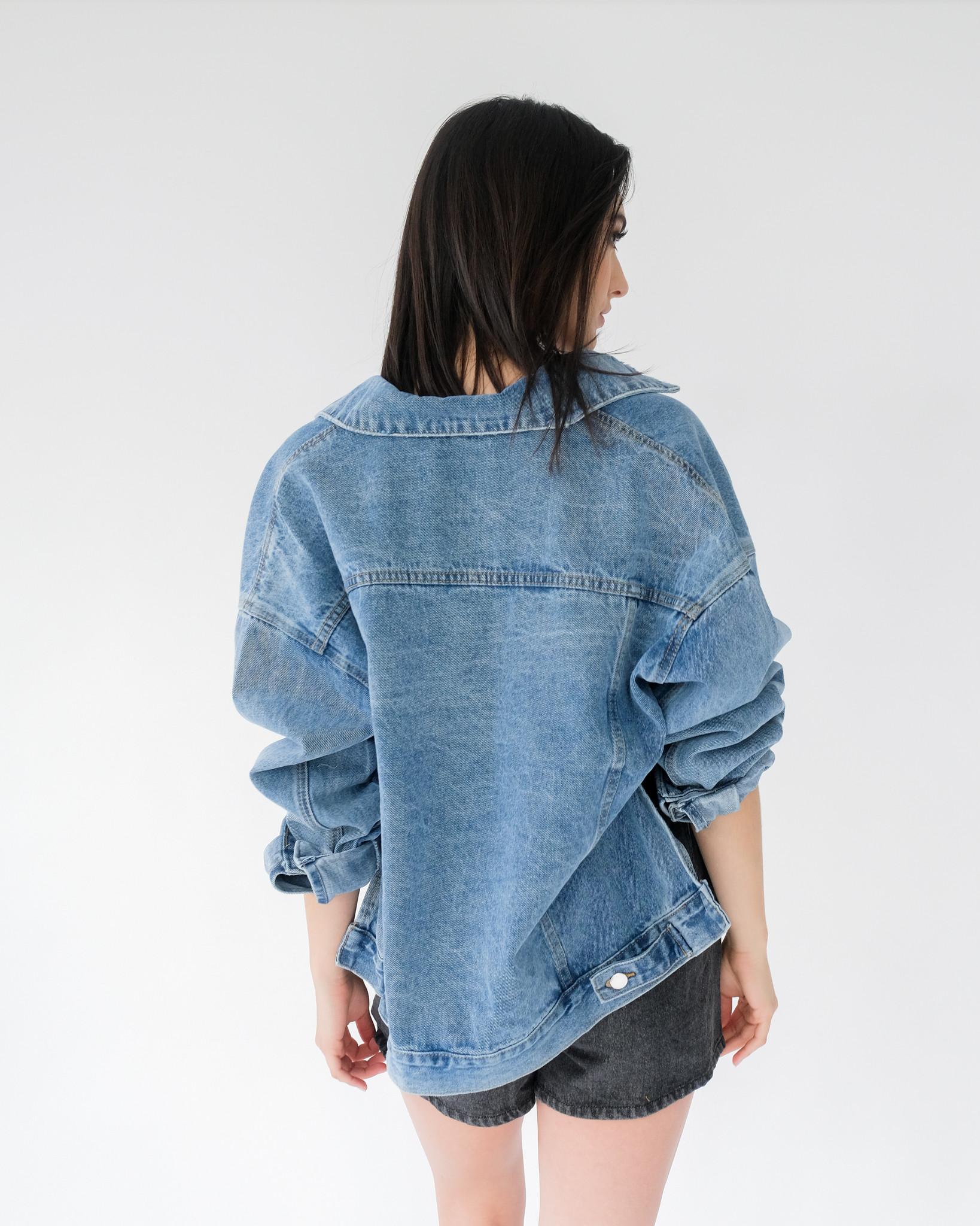 Lightweight Hi-Low Denim Jacket