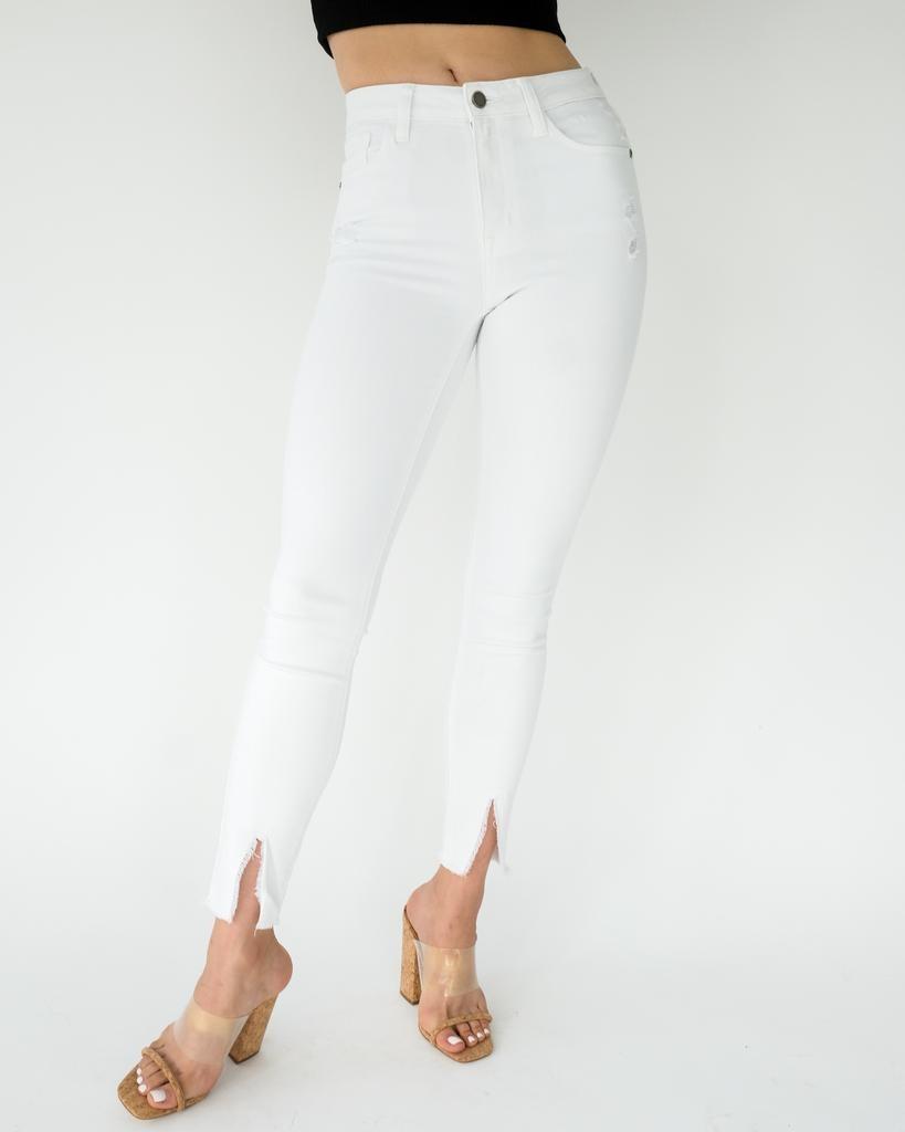 Jeans Front Slit Skinny Jean