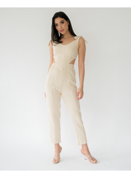 Jumpsuit Knot TIed Down Jumpsuit
