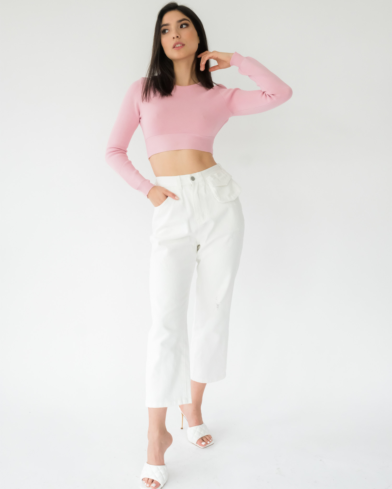 Crop Pink Showstopper Top
