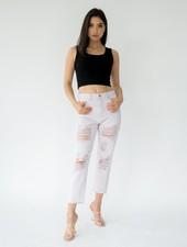 Pants Lavender Distressed Jeans