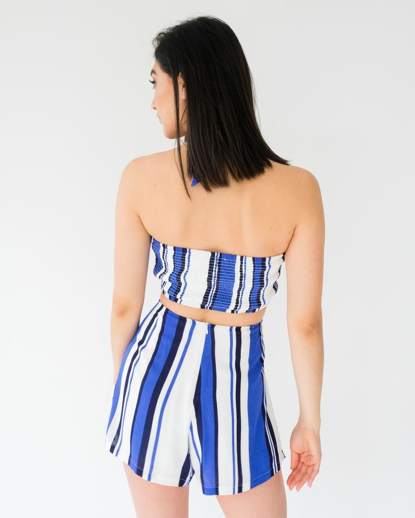 Crop All For It Striped Top