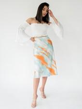 Skirt Tropical Sunset Midi Skirt
