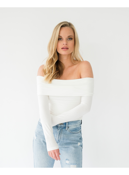 Trend Ivory Off-the-Shoulder Top