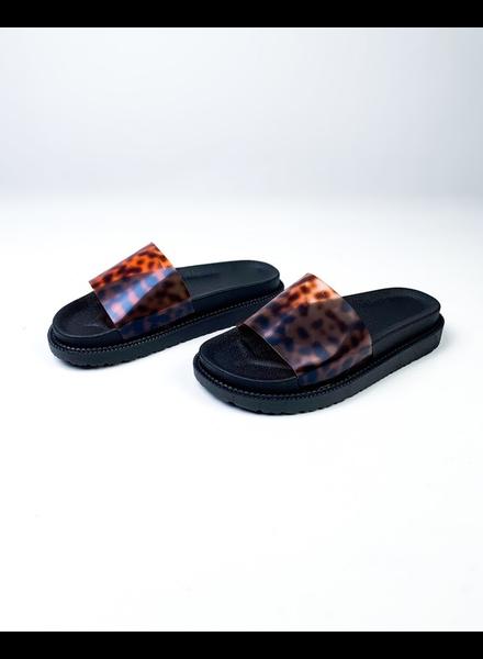 Sandal Love Me Leopard Slides