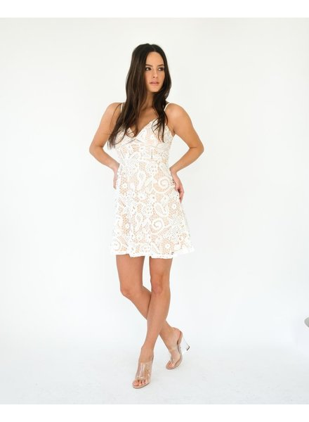 Dressy Lace Fit & Flare Dress