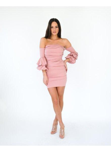 Mini Dusty Pink Mini Dress