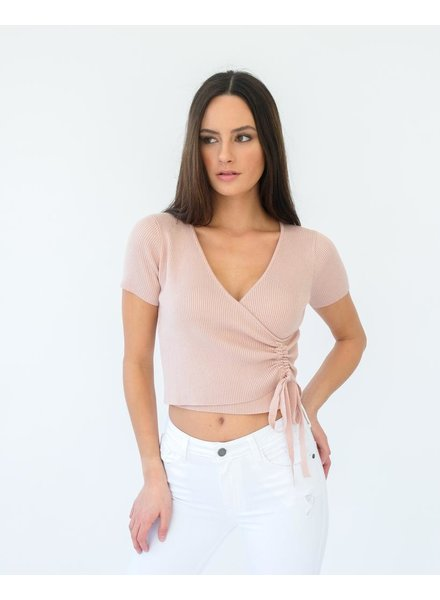 Crop Ruched Ribbed Crop