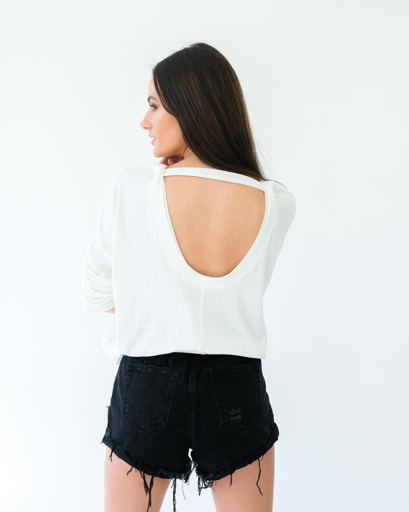T-shirt Open Back Top