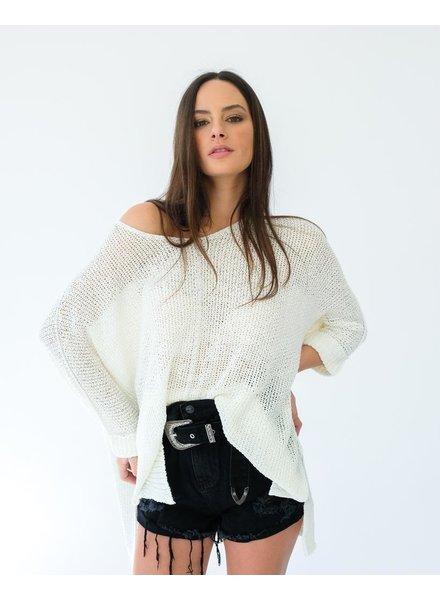 Sweater Ivory Cuff Knit