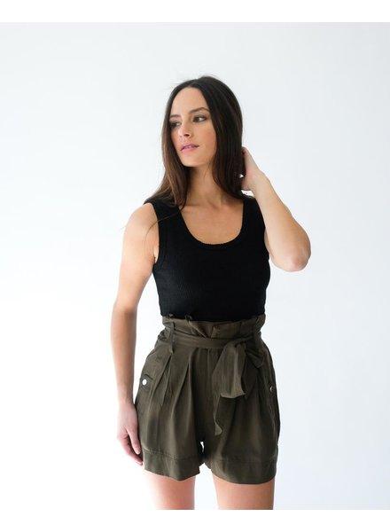 Shorts Olive Tie Waist Shorts