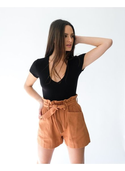 Short Rust Paperbag Shorts