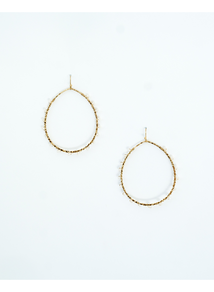 Gold Golden Girl Hoops