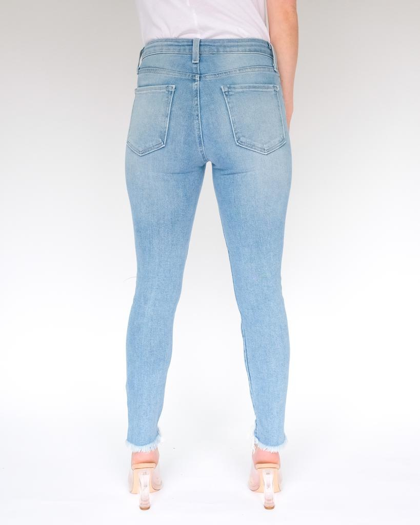 Jeans Distressed Hem Skinny