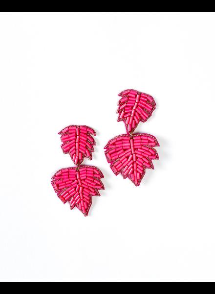 Trend Pink Palm Earrings