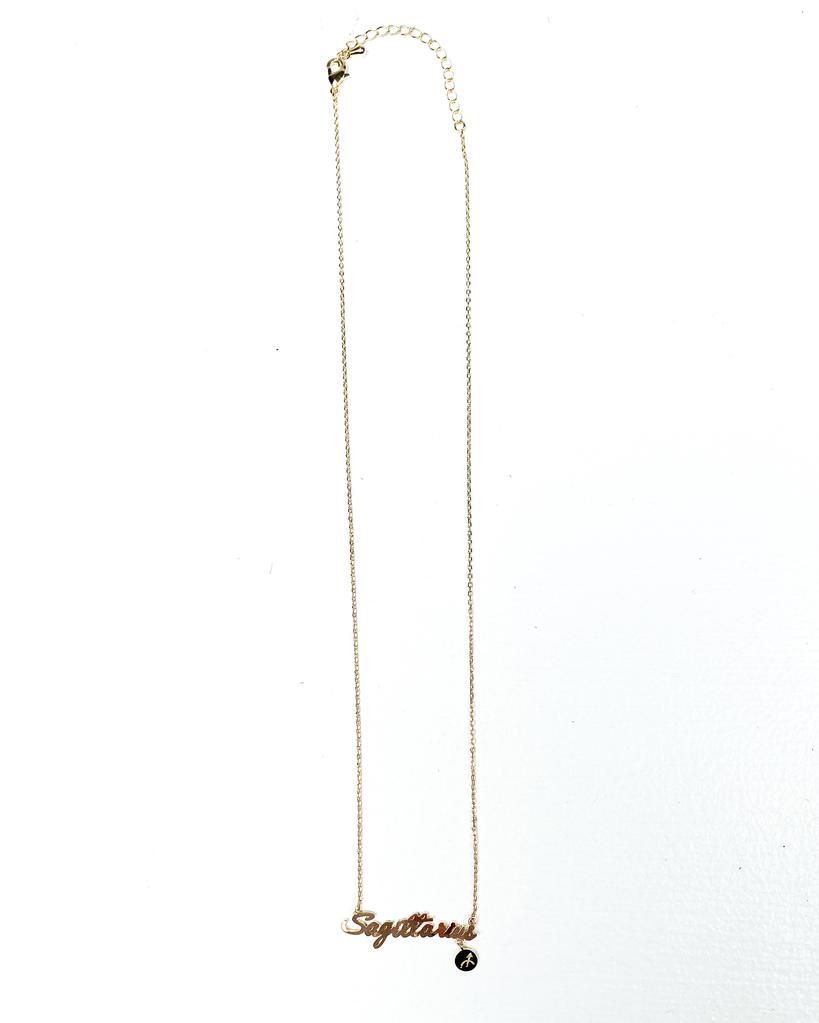 Gold Sagitarius Sign Necklace