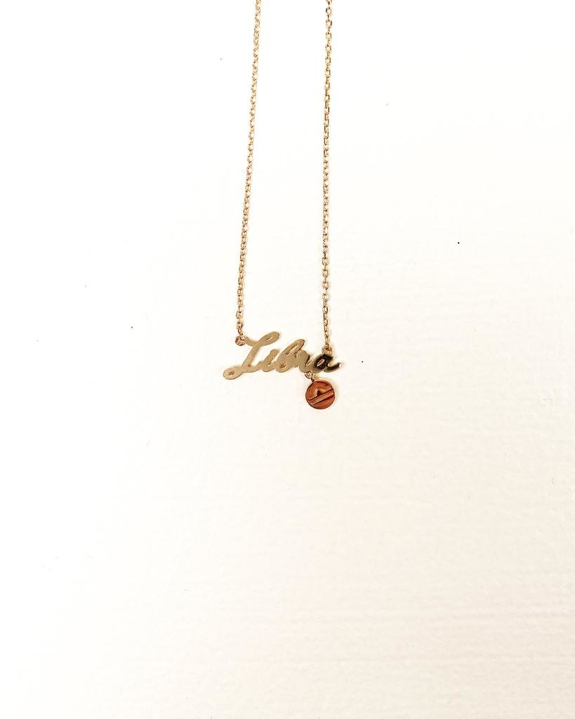 Gold Libra Sign Necklace