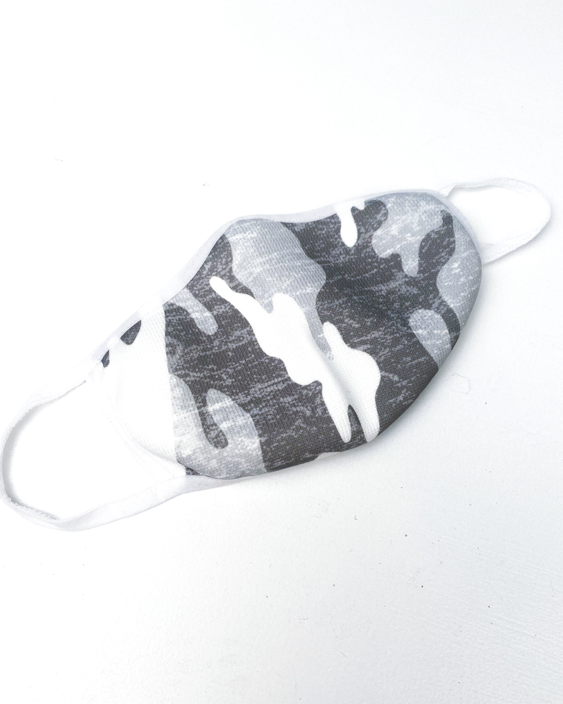 Accessories White Camo Protective Face Mask