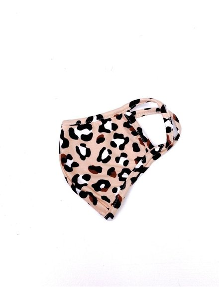Accessories Beige Leopard Protective Face Mask