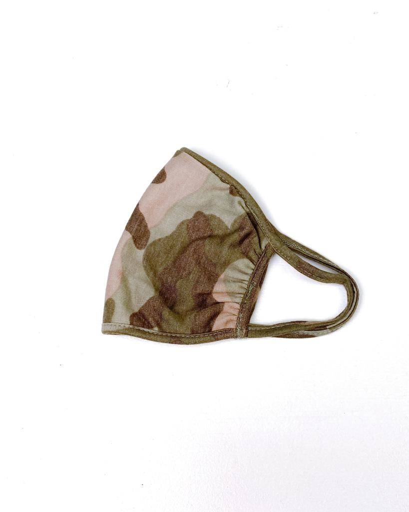 Accessories Ruched Camo Knit Protective Face Mask
