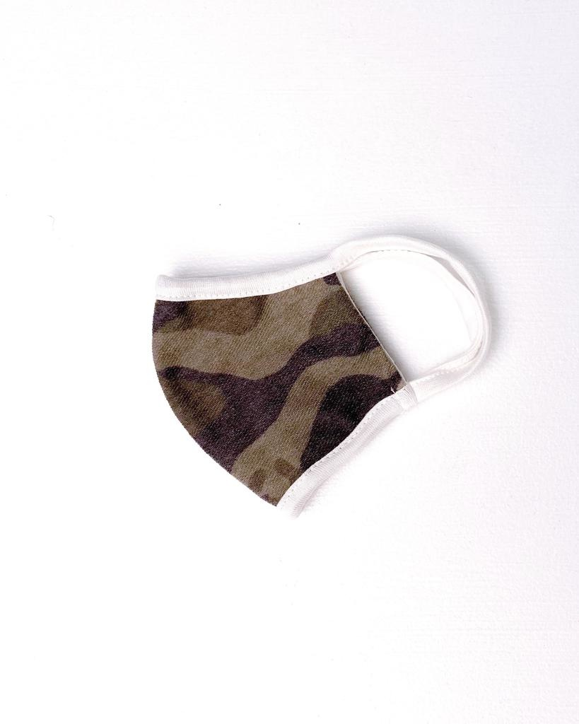 Accessories Kid's Green Camo Protective Face Mask
