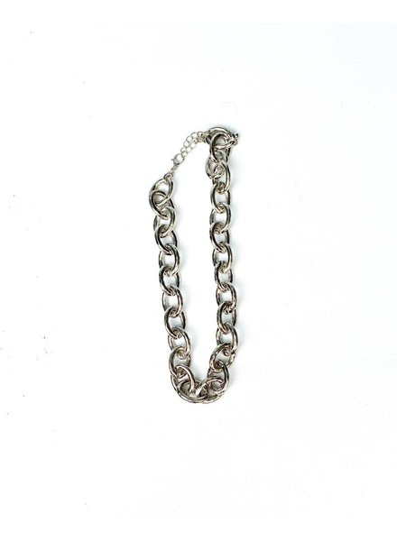 Silver Let's Link Up Necklace