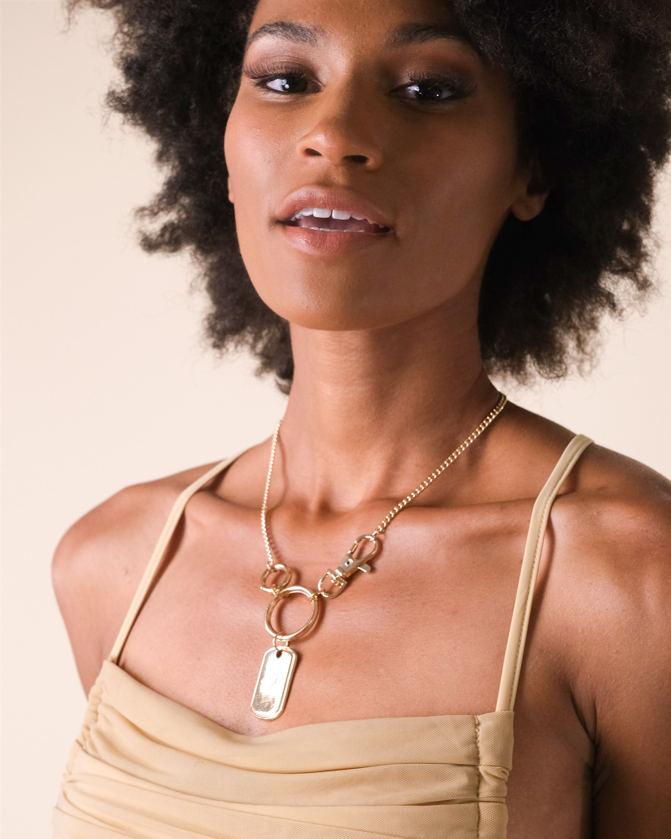 Gold Danielle Tag Necklace