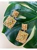 Gold Leo Drop Earrings