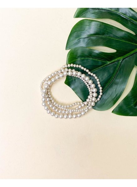 Silver Dianna Stacked Bracelets