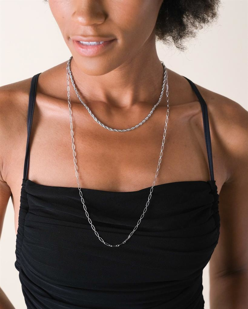 Silver Layla Layered Necklace
