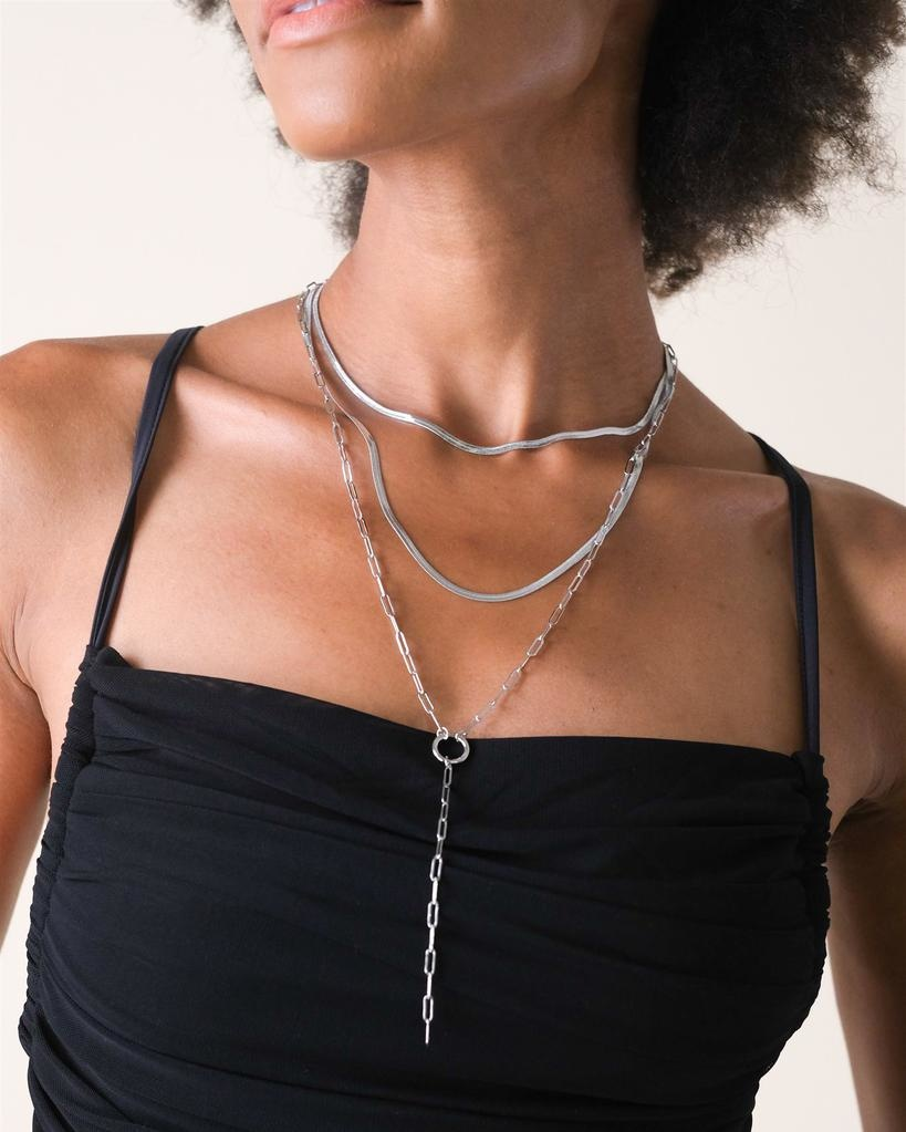 Silver Steph Layered Necklace