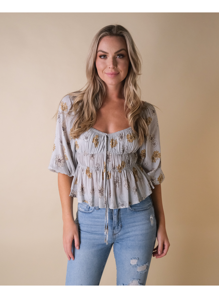 Blouse Prairie Fields Floral Top
