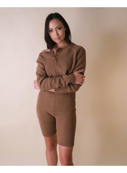 Sweater Knit's Time to Cozy Up Shorts