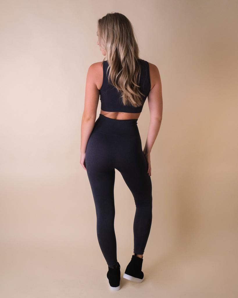 Leggings Barbells & Brunch Black Leggings