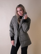 Winter In A Puff Olive Jacket