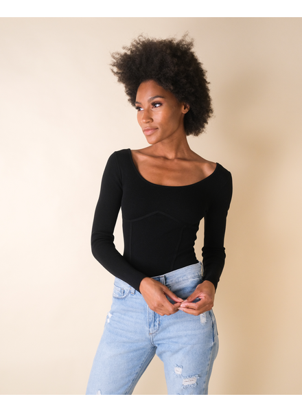 Casual Long Sleeve Double Layer Top