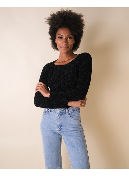 Sweater Black Cropped Sweater