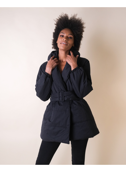 Winter In A Puff Black Jacket