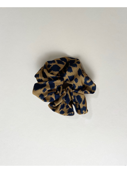 Accessories Mustard Leopard Scrunchie