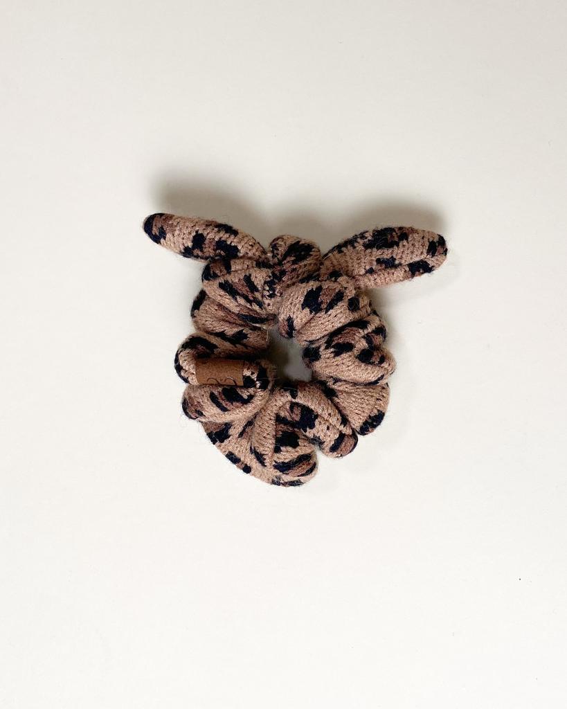 Accessories Knit Leopard Scrunchie