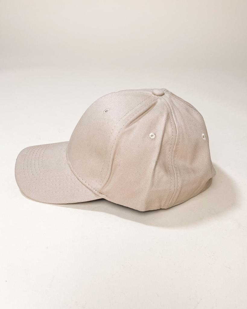 Hat Beige Take Me Out To The Ball Game Hat