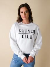Sweatshirt Brunch Club Cropped Pullover