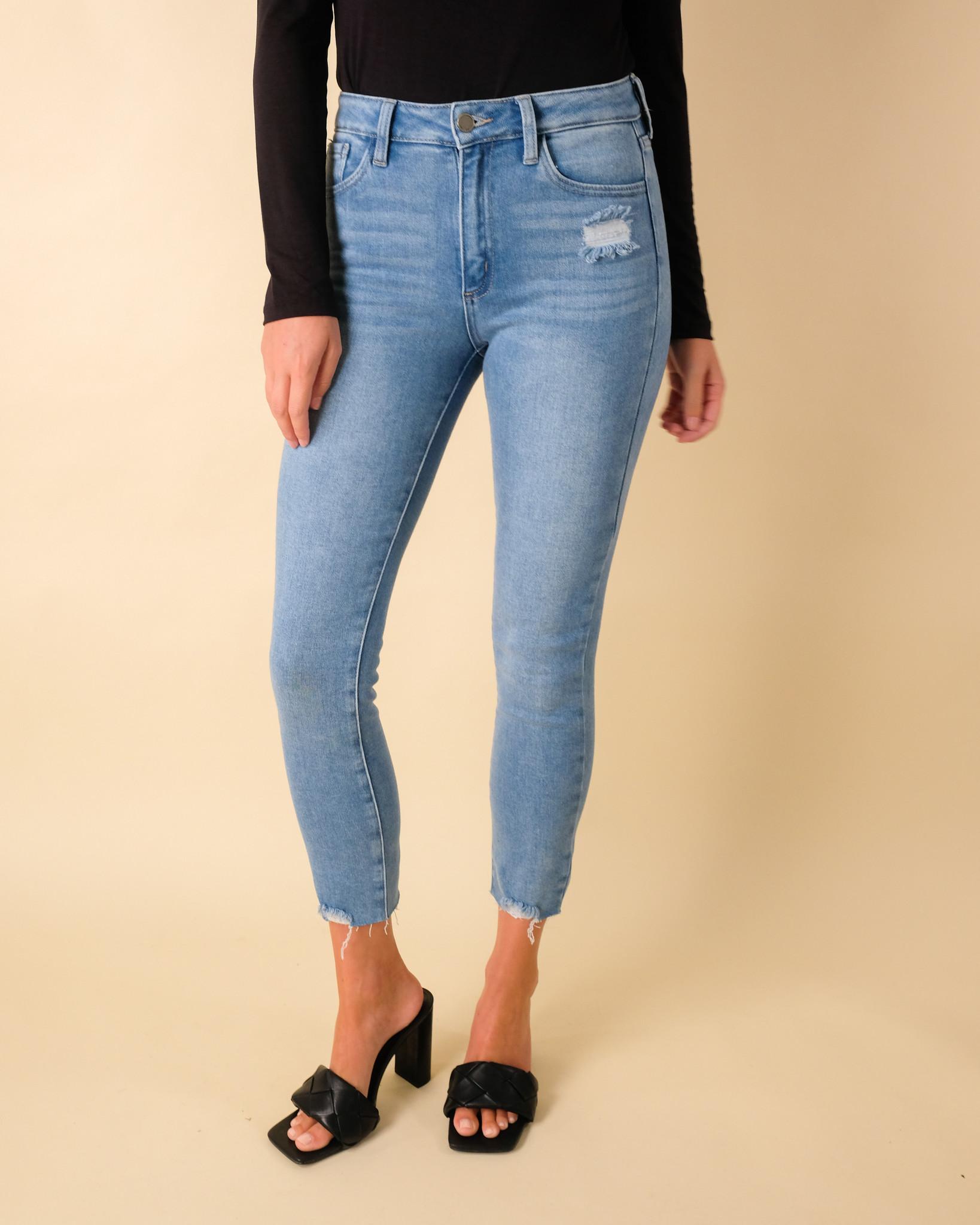 Jeans Scissor Hem Skinny Jean